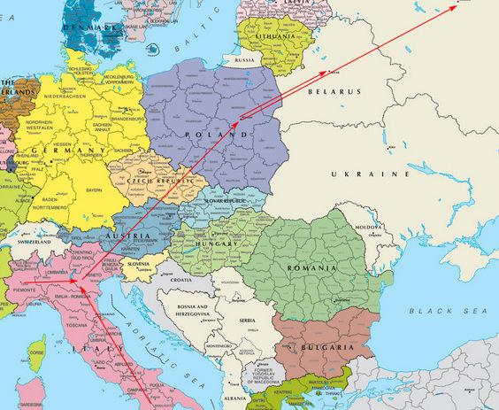 Сборные грузы из Италии в Россию, Беларусь
