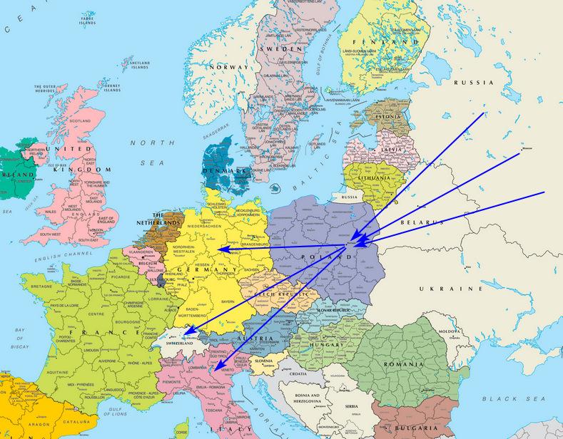 Экспорт сборных грузов в Европу
